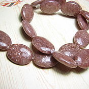 Материалы для творчества handmade. Livemaster - original item Aventurine brown. large beads 20h16h6,5, mm. Handmade.