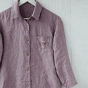 Одежда handmade. Livemaster - original item 100% linen designer shirt. Handmade.
