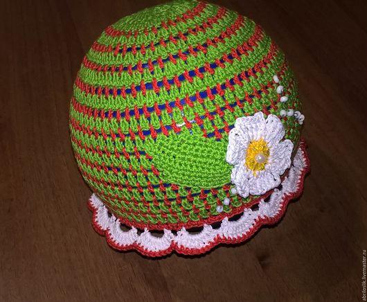 Шапки и шарфы ручной работы. Ярмарка Мастеров - ручная работа. Купить шапуля для девчули. Handmade. Зеленый, шапочка для девочки