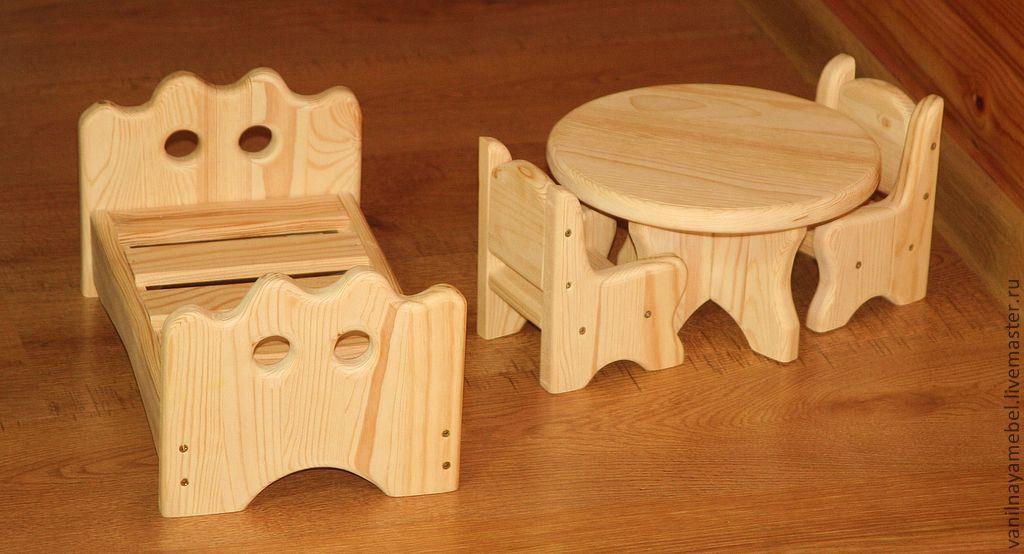 Деревянная мебель кукольная своими руками