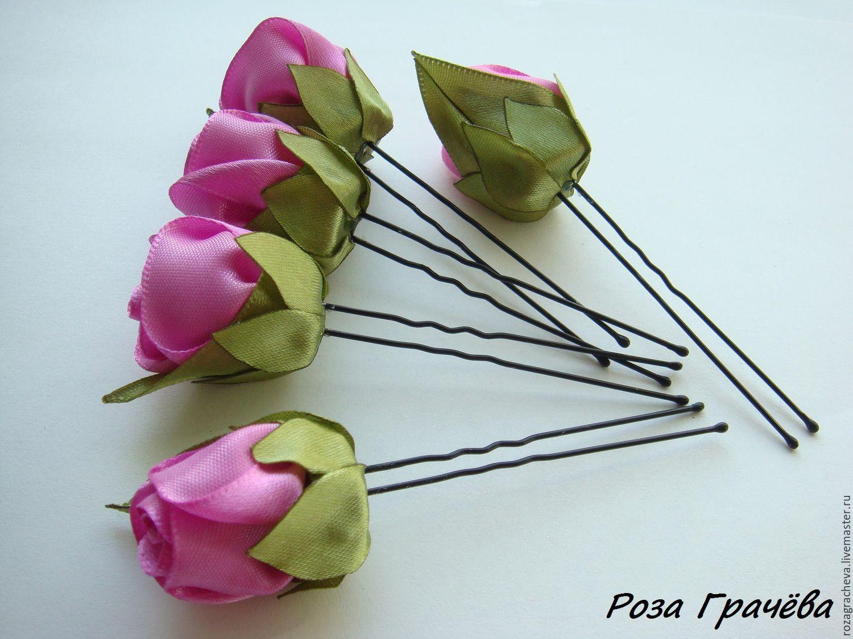 Цветы на шпильку своими руками 18