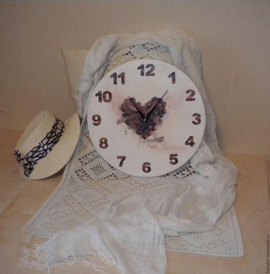 Часы для дома ручной работы. Ярмарка Мастеров - ручная работа. Купить Часы настенные Кофейная кантата: Сердце поющее, сердце крылатое. Handmade.