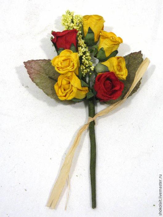Материалы для флористики ручной работы. Ярмарка Мастеров - ручная работа. Купить Коллаж Розы. Handmade. Ярко-красный, роза
