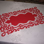 Для дома и интерьера handmade. Livemaster - original item Napkin red