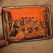 """Картины и панно handmade. Livemaster - original item Икона """"Тайная вечеря"""" Греция 12 вв. Handmade."""
