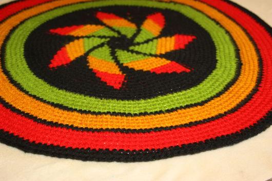 Текстиль, ковры ручной работы. Ярмарка Мастеров - ручная работа. Купить Коврик в стиле раста 2. Handmade. Комбинированный