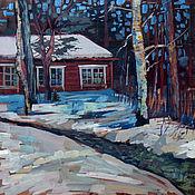 Картины и панно handmade. Livemaster - original item oil painting on wood. The beginning of spring. Academic. Handmade.