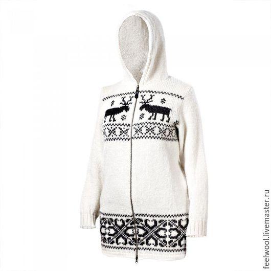 Кофты и свитера ручной работы. Ярмарка Мастеров - ручная работа. Купить Женский свитер из 100% новозеландской шерсти. Handmade. Рисунок
