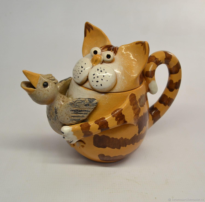 веселые коты керамика