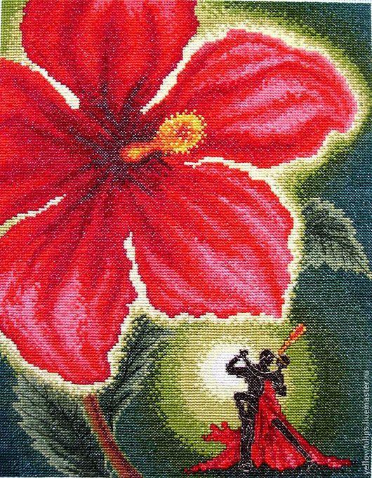Фантазийные сюжеты ручной работы. Ярмарка Мастеров - ручная работа. Купить Танго страсти. Handmade. Ярко-красный, картина в подарок