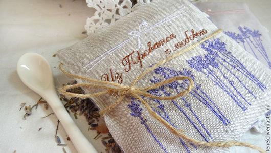 Текстиль, ковры ручной работы. Ярмарка Мастеров - ручная работа. Купить Саше с лавандой прованс Подарок женщине Сувениры на свадьбу гостям. Handmade.