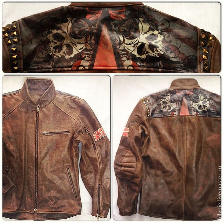 Нашивка на кожаную куртку своими руками 1