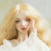 Куклы и игрушки handmade. Livemaster - original item Jointed porcelain doll Lily white (Lilly White). Handmade.