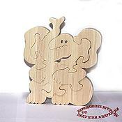 Puzzle handmade. Livemaster - original item Puzzles, puzzles. Baby elephant Cute adorable. auction.. Handmade.
