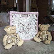 """Для дома и интерьера ручной работы. Ярмарка Мастеров - ручная работа Ящик для игрушек """"Бабочка"""". Handmade."""