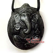 "Музыкальные инструменты handmade. Livemaster - original item Hand-made clay Ocarina (Tin whistle) ""Ganesha"".Exclusive whistle. Handmade."