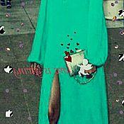 Одежда ручной работы. Ярмарка Мастеров - ручная работа Платье   туника  сарафан шелк стрей шифон разные цвета. Handmade.