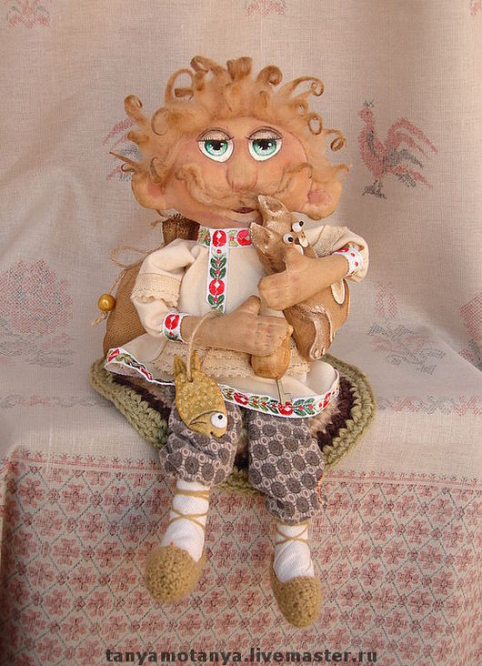 """Сказочные персонажи ручной работы. Ярмарка Мастеров - ручная работа. Купить Домовой """"Сами с усами"""" - кукла интерьерная. Handmade. Домовой"""