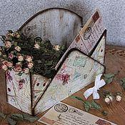 """Для дома и интерьера ручной работы. Ярмарка Мастеров - ручная работа Короб для писем и бумаг """"Воспоминание"""". Handmade."""