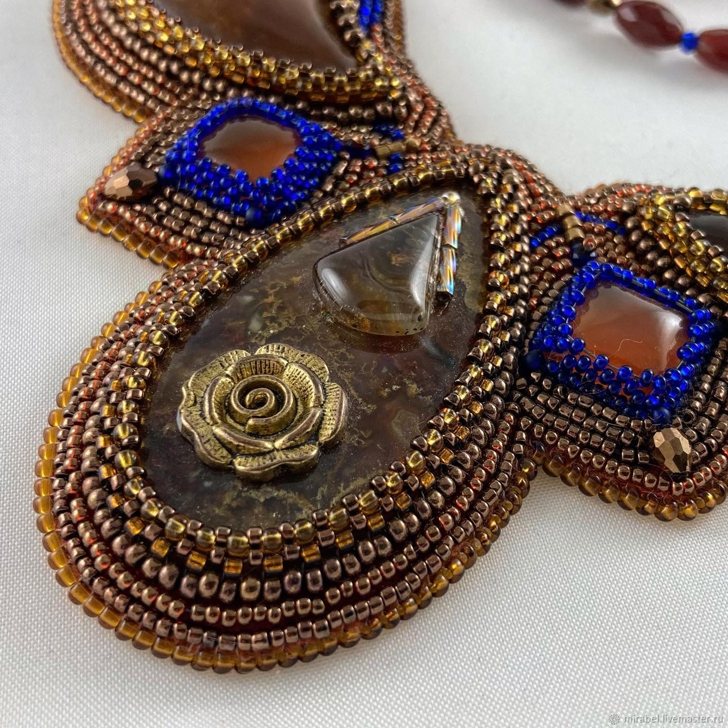 Madonna necklace beaded embroidery, Necklace, Moscow,  Фото №1