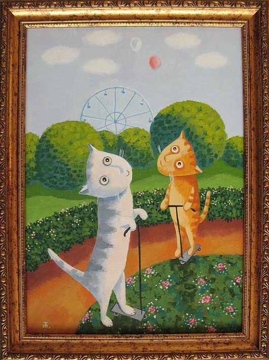 Животные ручной работы. Ярмарка Мастеров - ручная работа. Купить В детском парке. Handmade. Кот, коты, котик, котенок