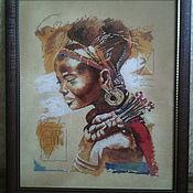Картины и панно ручной работы. Ярмарка Мастеров - ручная работа Африканка. Handmade.