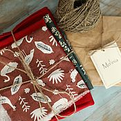 handmade. Livemaster - original item Fabric linen cotton cuts for sewing toys dolls scrapbooking. Handmade.