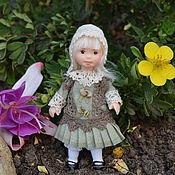 Куклы и игрушки ручной работы. Ярмарка Мастеров - ручная работа Кукла миниатюрная  7 см.. Handmade.