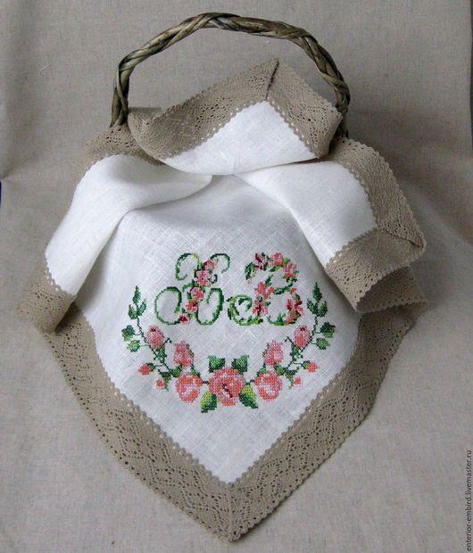 """Подарки на Пасху ручной работы. Ярмарка Мастеров - ручная работа. Купить Пасхальная салфетка """" Настальгия""""  вышивка крестиком. Handmade."""