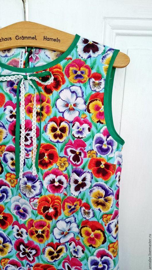 Платья ручной работы. Ярмарка Мастеров - ручная работа. Купить Платье Фиалка Монмартра Хлопок 100%. Handmade. Платье, рисунок