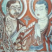 Картины и панно handmade. Livemaster - original item Miniature: Two Buddhist monks of The thousand Buddha cave.. Handmade.