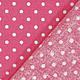 Шитье ручной работы. Горошки на ярко-розовом. Ткани из Германии (Hobbyundstoff). Интернет-магазин Ярмарка Мастеров. Ярко-розовый