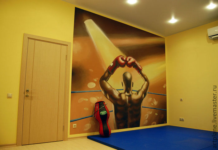 Роспись стен в спортзале, , Москва, Фото №1