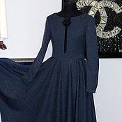 """Одежда ручной работы. Ярмарка Мастеров - ручная работа Платье в стиле ретро """"Синева 3"""". Handmade."""