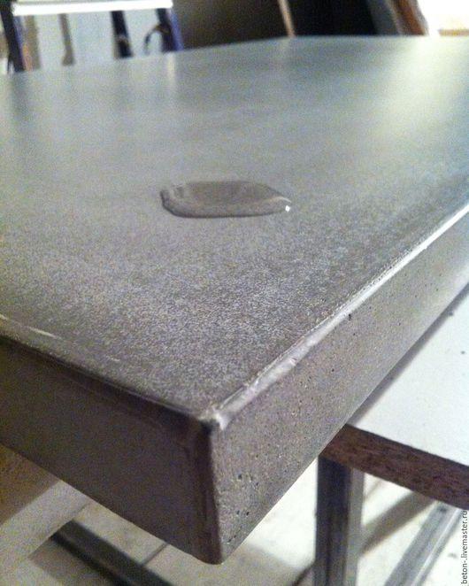 Мебель ручной работы. Ярмарка Мастеров - ручная работа. Купить Столешница бетонная.. Handmade. Серый, бетонная столешница, на заказ, бетон