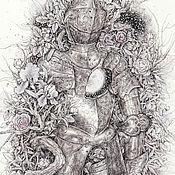 Картины и панно ручной работы. Ярмарка Мастеров - ручная работа У него была белая лошадь. (Специальная цена 10800р.). Handmade.