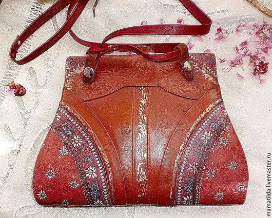 Винтажные сумки и кошельки. Ярмарка Мастеров - ручная работа. Купить Сумочка антикварная Бордо. Handmade. Бордовый, ретро стиль