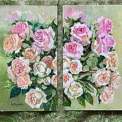 Картины и панно handmade. Livemaster - original item Oil painting modular
