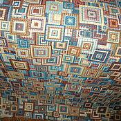 Ткани ручной работы. Ярмарка Мастеров - ручная работа Покрывало  гобеленовое -абстракция геометрическая. Handmade.