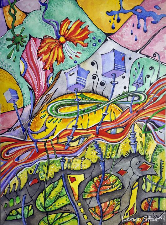 Абстракция ручной работы. Ярмарка Мастеров - ручная работа. Купить Бесконечность. Handmade. Комбинированный, абстракция, абстрактная картина, картина