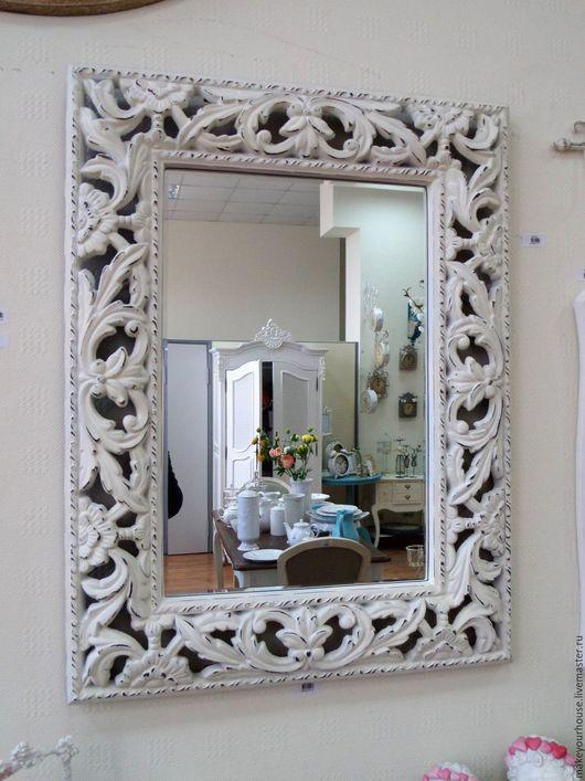 """Зеркала ручной работы. Ярмарка Мастеров - ручная работа. Купить Зеркало в витой раме """"Восторг"""". Handmade. Белый, зеркало в раме"""