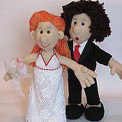 Куклы и игрушки ручной работы. Ярмарка Мастеров - ручная работа Куклы на свадьбу Совет да Любовь. Handmade.