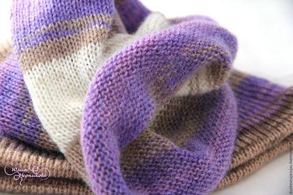 Шарфы и шарфики ручной работы. Снуд вязаный