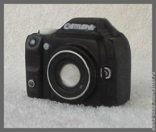 """Мыло ручной работы. Ярмарка Мастеров - ручная работа. Купить """"Фотоаппарат"""" мыло ручной работы. Handmade. Чёрно-белый"""