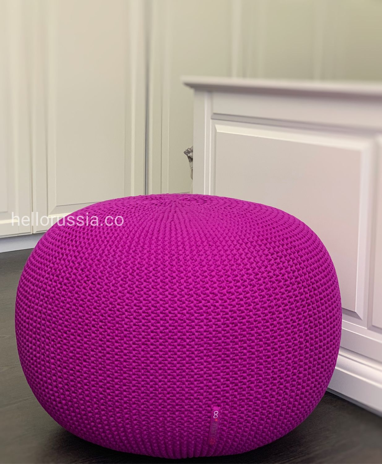 Peachy Puff Padded Stool Knitted Pouf Ottoman For Living Room Interior Pouf Shop Online On Livemaster With Shipping I4Lybcom Moscow Machost Co Dining Chair Design Ideas Machostcouk