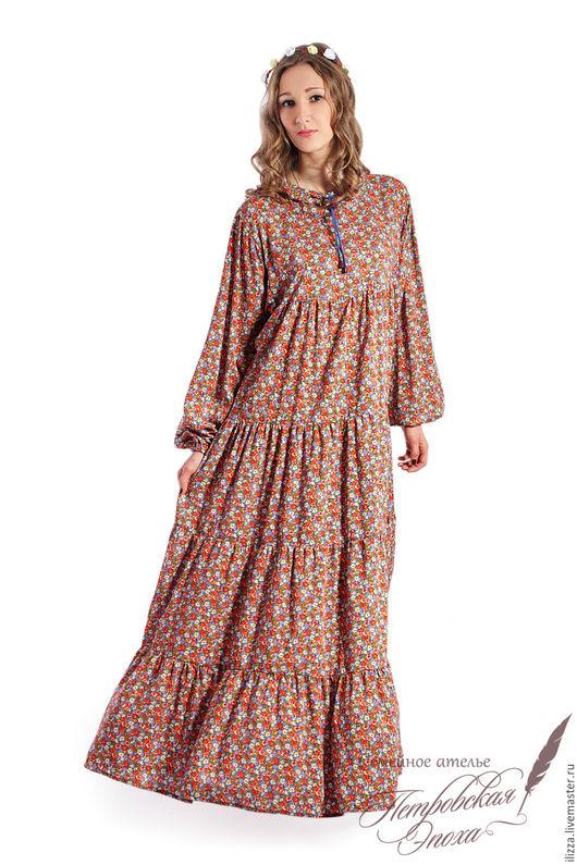 """Платья ручной работы. Ярмарка Мастеров - ручная работа. Купить Платье с капюшоном """"Полина""""1. Handmade. Большие размеры, юбка летняя"""