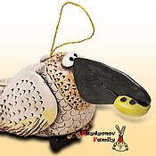 Сувениры и подарки handmade. Livemaster - original item White crow, ceramic bell. Crow clay.. Handmade.