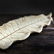 Посуда handmade. Livemaster - original item Ceramic leaf