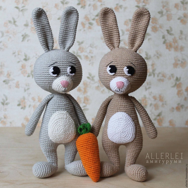 мастер класс по вязанию игрушки заяц с морковкой описание игрушки
