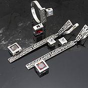 Украшения handmade. Livemaster - original item Modern 8 jewelry set made of 925 DD0113 silver. Handmade.